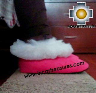SHEEPSKIN SLIPPER Fucsia Huscaran - Product id: SLIPPERS09-04 Photo04