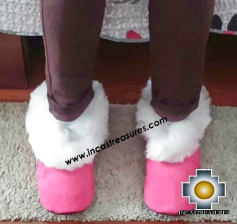 SHEEPSKIN SLIPPER Fucsia Huscaran - Product id: SLIPPERS09-04 Photo01