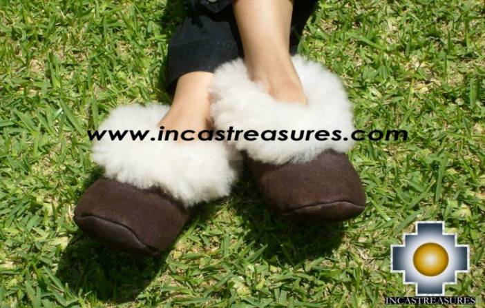 Sheepskin slipper Camel Huscaran