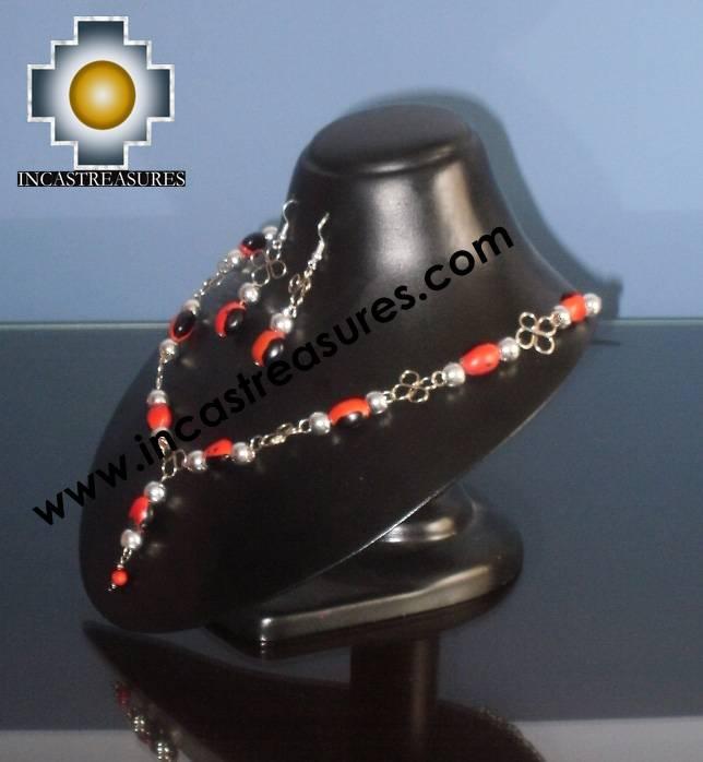 Jewelry kit Huayruro Seeds Awasqa - Product id: Andean-Jewelry10-06 Photo01