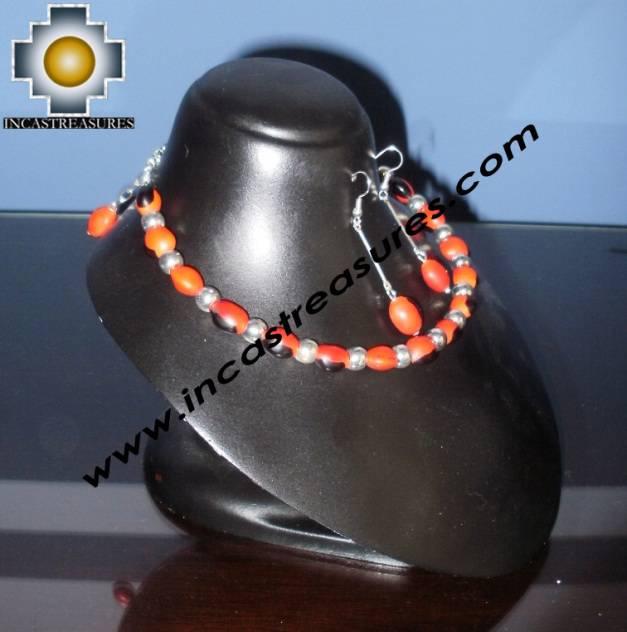Jewelry kit Huayruro Seeds paru - Product id: Andean-Jewelry10-11 Photo03