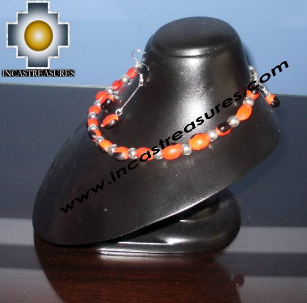 Jewelry kit Huayruro Seeds paru - Product id: Andean-Jewelry10-11 Photo02