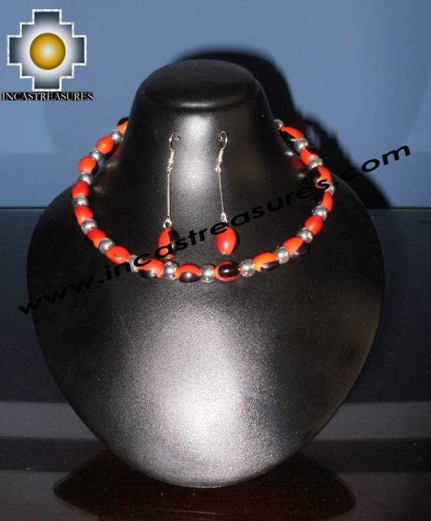 Jewelry kit Huayruro Seeds Paru - Product id: Andean-Jewelry10-06 Photo03