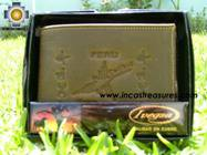Andean Leather Wallet NAZCA hummingbird,free shipping