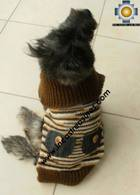 Dog Turtle neck sweater Brown - Product id: dog-clothing-10-06 Photo02