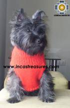Dog Turtle neck sweater red - Product id: dog-clothing-10-07 Photo02