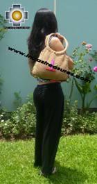 Beige handmade alpaca handbag with dots - Product id: HANDBAGS09-02 Photo02