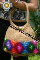 Beige handmade alpaca handbag with dots - Product id: HANDBAGS09-02 Photo03