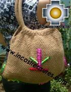 Beige handmade alpaca handbag with dots - Product id: HANDBAGS09-02 Photo04