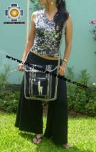 Andean Alpaca wool Handbag MESSENGER black