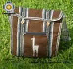 Andean Alpaca wool Handbag MESSENGER chocolate - Product id: HANDBAGS09-48 Photo03