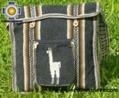 Andean Alpaca wool Handbag MESSENGER dark-grey - Product id: HANDBAGS09-44 Photo03