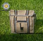 Andean Alpaca wool Handbag MESSENGER light-brown - Product id: HANDBAGS09-47 Photo02