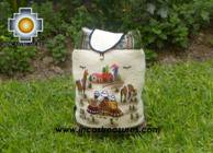 Beautiful Backpack with Incas culture borders journey   - Product id: HANDBAGS09-69 Photo02