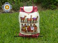 Beautiful Backpack with Incas culture borders pachamanca   - Product id: HANDBAGS09-68 Photo03