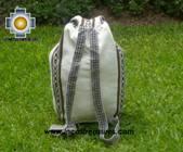 big alpaca travel backpack IVORY - Product id: HANDBAGS09-38 Photo04