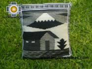 big Handmade sheep wool square handbag autumn - Product id: HANDBAGS09-29 Photo02