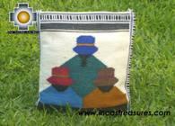 big Handmade sheep wool square handbag big-paisanas - Product id: HANDBAGS09-28 Photo02
