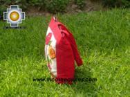 Handbag with handmade embroided FLOWERS - Product id: HANDBAGS09-71 Photo03