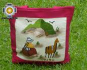 Handbag with handmade embroided grazing - Product id: HANDBAGS09-74 Photo03