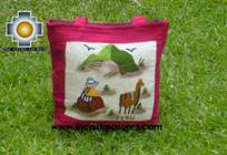 Handbag with handmade embroided grazing - Product id: HANDBAGS09-74 Photo01