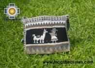 handmade handbag alpaca sheep ANDEAN night - Product id: HANDBAGS09-05 Photo01