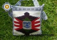 Handmade sheep wool square handbag mighty sun - Product id: HANDBAGS09-10 Photo02