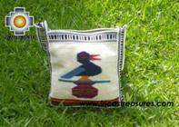 Handmade sheep wool square handbag songbird - Product id: HANDBAGS09-11 Photo01