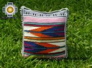 Handmade sheep wool square handbag stripes - Product id: HANDBAGS09-16 Photo02