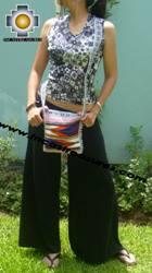 Handmade sheep wool square handbag stripes - Product id: HANDBAGS09-16 Photo03