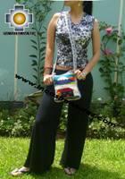 Handmade sheep wool square handbag volcano - Product id: HANDBAGS09-15 Photo03