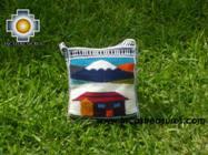Handmade sheep wool square handbag volcano - Product id: HANDBAGS09-15 Photo01