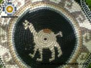 Round Handbag sheep wool NIGHT ALPACA - Product id: HANDBAGS09-32 Photo03