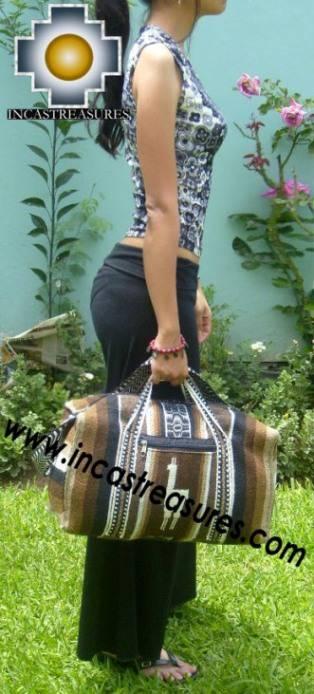 Alpaca Travel bag medium AMAUTA brown