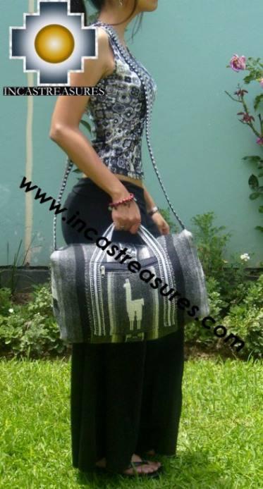 Alpaca Travel bag medium AMAUTA dark grey