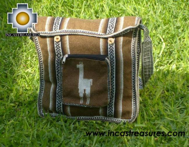 Andean Alpaca wool Handbag MESSENGER camel - Product id: HANDBAGS09-49 Photo01