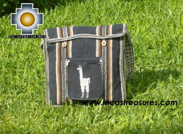 Andean Alpaca wool Handbag MESSENGER dark-grey - Product id: HANDBAGS09-44 Photo01