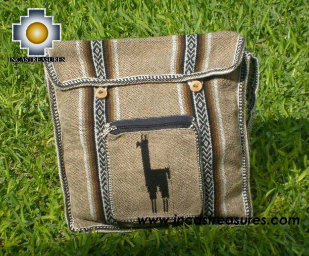 Andean Alpaca wool Handbag MESSENGER light-brown - Product id: HANDBAGS09-47 Photo01