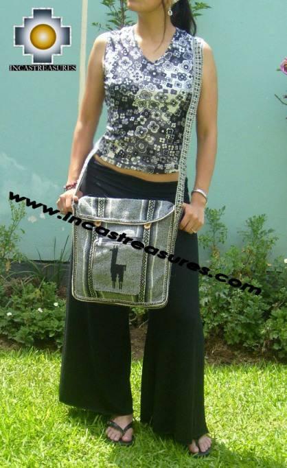 Andean Alpaca wool Handbag MESSENGER silver - Product id: HANDBAGS09-45