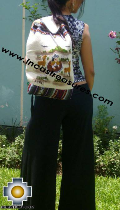 Beautiful Backpack with Incas culture borders MAMA OCLLO - Product id: HANDBAGS09-67