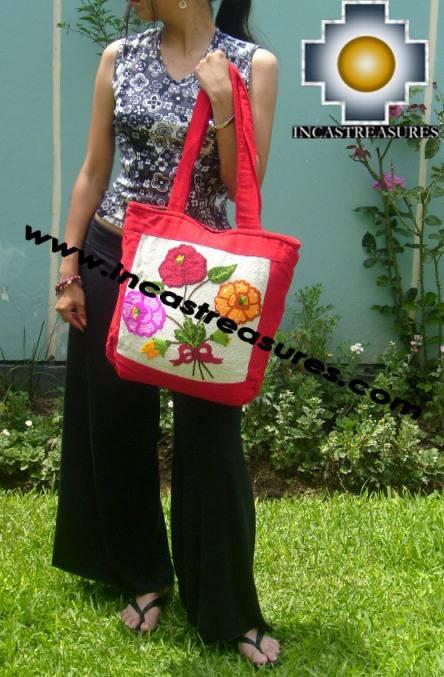 Handbag with handmade embroided FLOWERS - Product id: HANDBAGS09-71