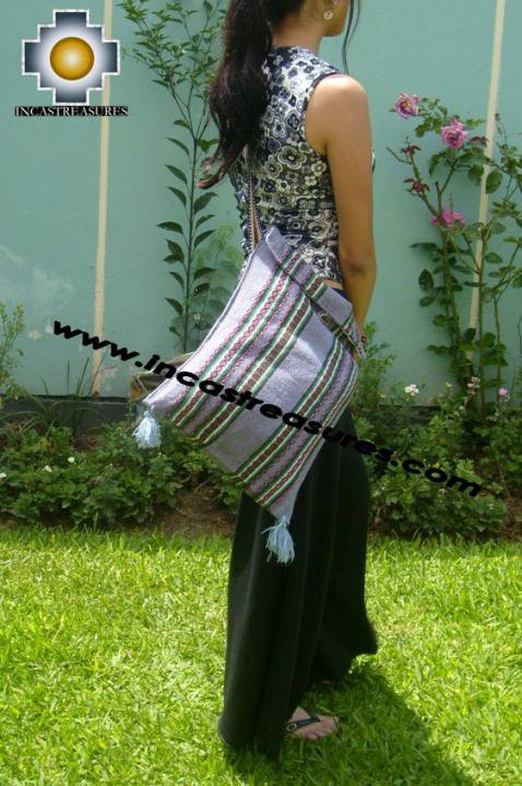 handmade handbag of bolivian blanket DAWN