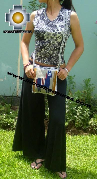 Handmade sheep wool square handbag  donkey - Product id: HANDBAGS09-09