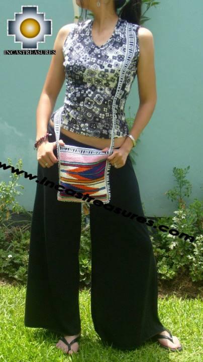 Handmade sheep wool square handbag stripes - Product id: HANDBAGS09-16
