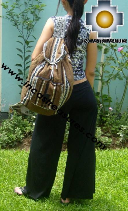medium alpaca travel backpack BROWN - Product id: HANDBAGS09-41