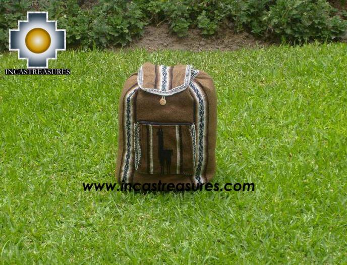 medium alpaca travel backpack BROWN