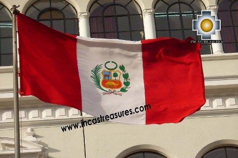 Peru Flag Big, sewn Nylon Peruvian Banner - Product id: home-decor13-02 Photo02
