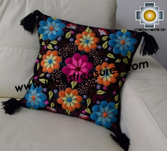 Alpaca Cushion Handmade Colibri Black