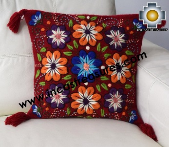 Alpaca Cushion Handmade Colibri Red
