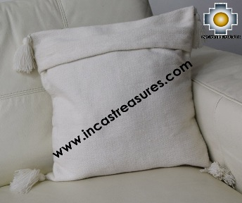 Alpaca Cushion Handmade Colibri White